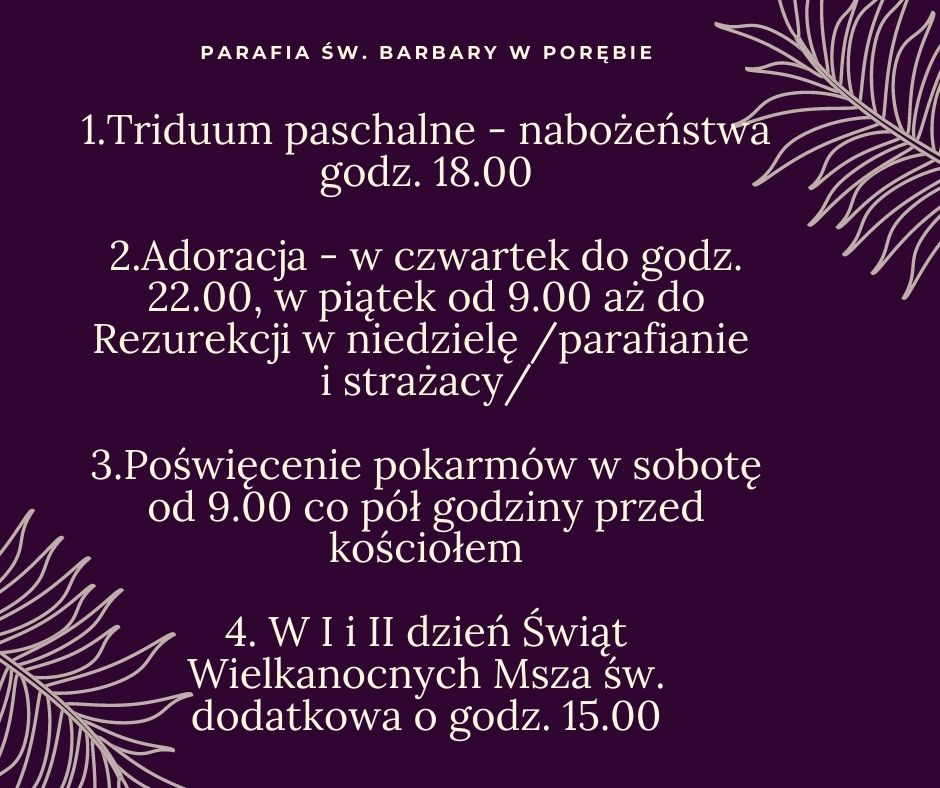 program wielkanoc poreba